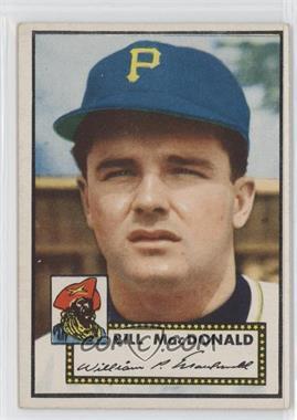 1952 Topps #138 - Bill MacDonald