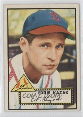 1952 Topps #165 - Eddie Kazak [Good to VG‑EX]