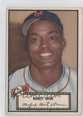 1952 Topps #26BB - Monte Irvin (Black Back)