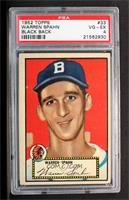 Warren Spahn (Black Back) [PSA 4]