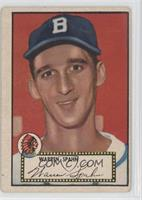 Warren Spahn Black Back