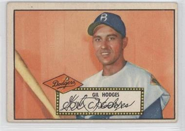 1952 Topps #36.1 - Gil Hodges (Red Back) [Good to VG‑EX]