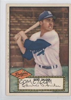 1952 Topps #37BB - Duke Snider (Black Back)
