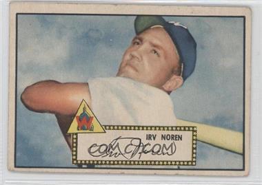 1952 Topps #40.1 - Irv Noren (Red Back) [GoodtoVG‑EX]