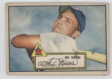 1952 Topps #40.1 - Irv Noren (Red Back) [Good to VG‑EX]