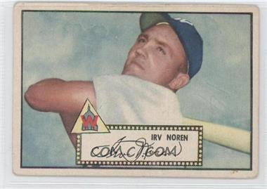 1952 Topps #40.2 - Irv Noren (Black Back) [Good to VG‑EX]