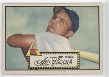 1952 Topps #40BB - Irv Noren (Black Back) [GoodtoVG‑EX]