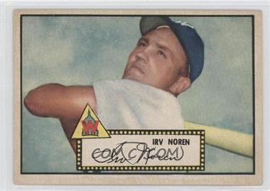 1952 Topps #40BB - Irv Noren (Black Back)