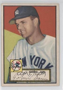 1952 Topps #49.3 - Johnny Sain (Black Back, Correct Bio on Back)