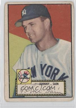 1952 Topps #49BB - Johnny Sain (Black Back)