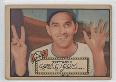 1952 Topps #5.1 - Larry Jansen (Red Back)