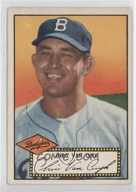 1952 Topps #53.2 - Chris Van Cuyk (Black Back)