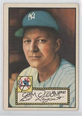 1952 Topps #57.1 - Ed Lopat (Red Back) [Good to VG‑EX]