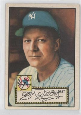 1952 Topps #57.1 - Ed Lopat (Red Back)