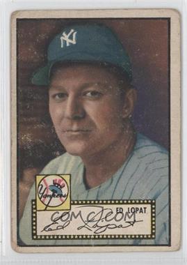 1952 Topps #57.2 - Ed Lopat (Black Back)
