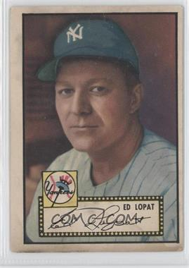 1952 Topps #57.2 - Ed Lopat (Black Back) [Good to VG‑EX]