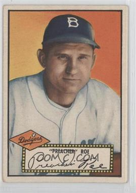 1952 Topps #66BB - Preacher Roe (Black Back)