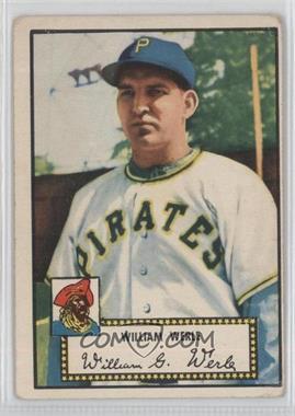 1952 Topps #73 - Bill Werle [GoodtoVG‑EX]