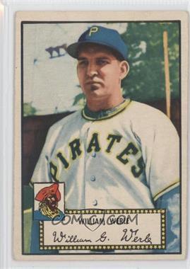 1952 Topps #73 - Bill Werle