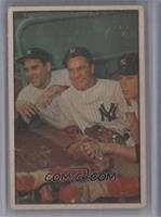Hank Bauer, Yogi Berra, Mickey Mantle [Poor]