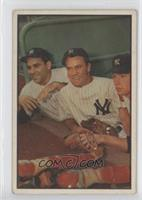 Hank Bauer, Yogi Berra, Mickey Mantle [Good to VG‑EX]