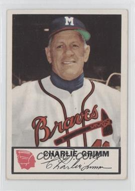 1953 Johnston Cookies Milwaukee Braves #1 - Charlie Grimm