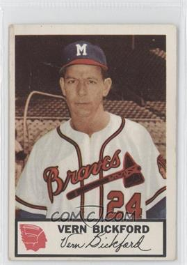 1953 Johnston Cookies Milwaukee Braves #3 - Vern Bickford