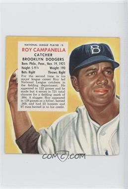 1953 Red Man Tobacco [Base] Cut Tab #5 - Roy Campanella