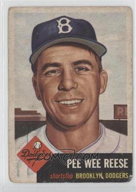 1953 Topps - [Base] #76 - Pee Wee Reese [GoodtoVG‑EX]