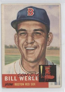 1953 Topps #170 - Bill Werle