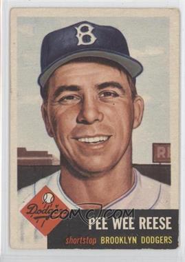1953 Topps #76 - Pee Wee Reese [GoodtoVG‑EX]
