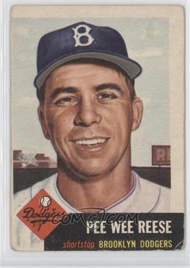 1953 Topps #76 - Pee Wee Reese [Good to VG‑EX]