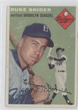 1954 Topps - [Base] #32 - Duke Snider [Poor to Fair]