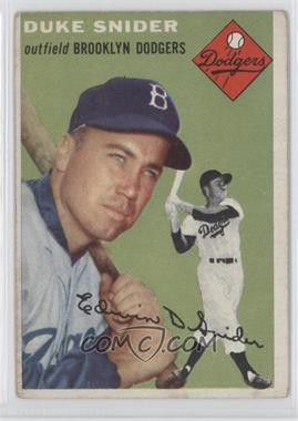 1954 Topps - [Base] #32 - Duke Snider [Good to VG‑EX]