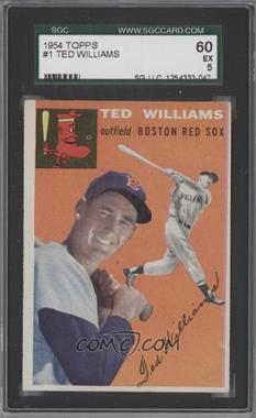 1954 Topps #1 - Ted Williams [SGC 60]