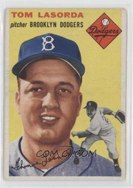 1954 Topps #132 - Tom Lasorda [Good to VG‑EX]