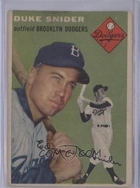 1954 Topps #32 - Duke Snider [Good to VG‑EX]