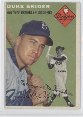 1954 Topps #32 - Duke Snider [GoodtoVG‑EX]