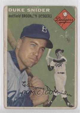 1954 Topps #32 - Duke Snider