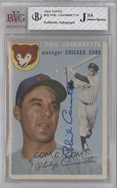 1954 Topps #55 - Phil Cavarretta [BVG/JSACertifiedAuto]