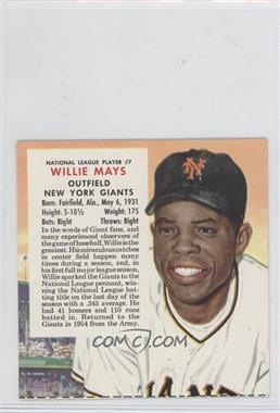 1955 Red Man All-Star Team Tobacco [Base] Cut Tab #7 - Willie Mays