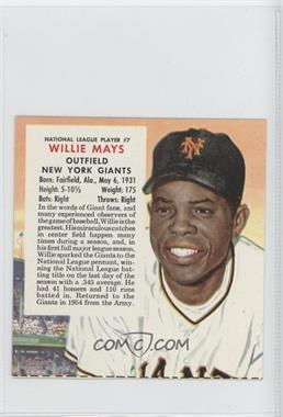1955 Red Man Tobacco All-Star Team National League Series Cut Tab #7 - Willie Mays