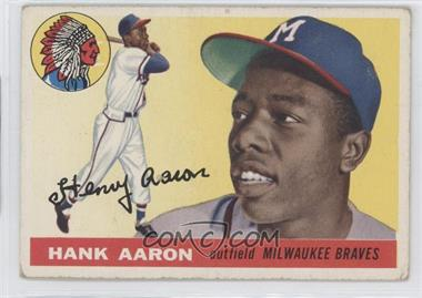 1955 Topps - [Base] #47 - Hank Aaron