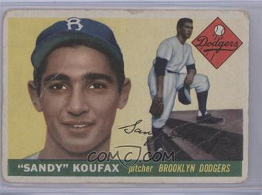 1955 Topps #123 - Sandy Koufax [Poor to Fair]
