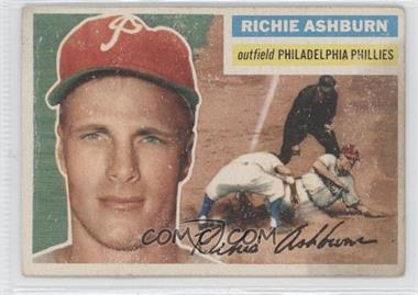 1956 Topps - [Base] #120.1 - Richie Ashburn (Gray Back) [Good to VG‑EX]