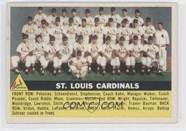 1956 Topps - [Base] #134.1 - St. Louis Cardinals Team (Gray Back)