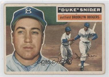 1956 Topps - [Base] #150.1 - Duke Snider (Gray Back) [GoodtoVG‑EX]