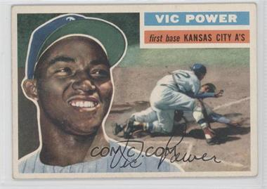 1956 Topps - [Base] #67.1 - Vic Power (Gray Back)