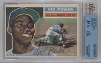 Vic Power (Gray Back) [BVG/JSA Certified Auto]