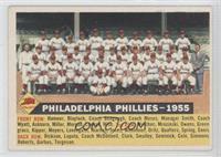 Philadelphia Phillies Team (White Back, Team Name and Date)